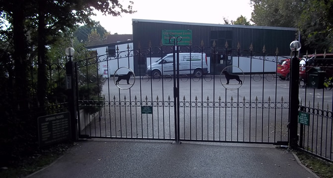 Bridgwater Boarding Kennels Entrance